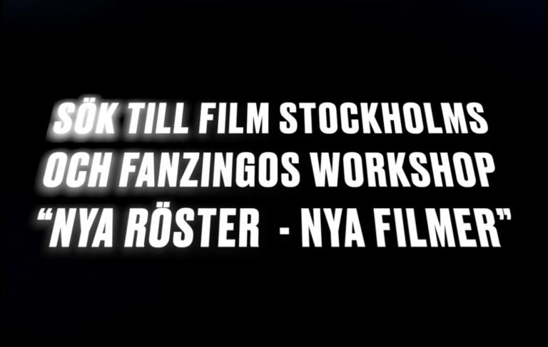 Sök höstens filmkurs: Nya Röster- Nya Filmer
